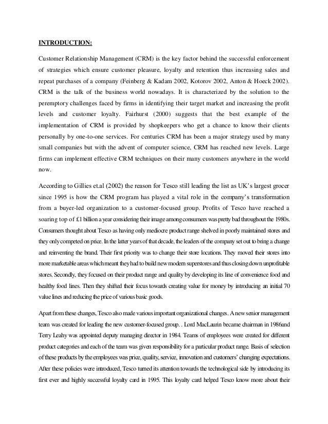 Literature review of tesco customer satisfaction