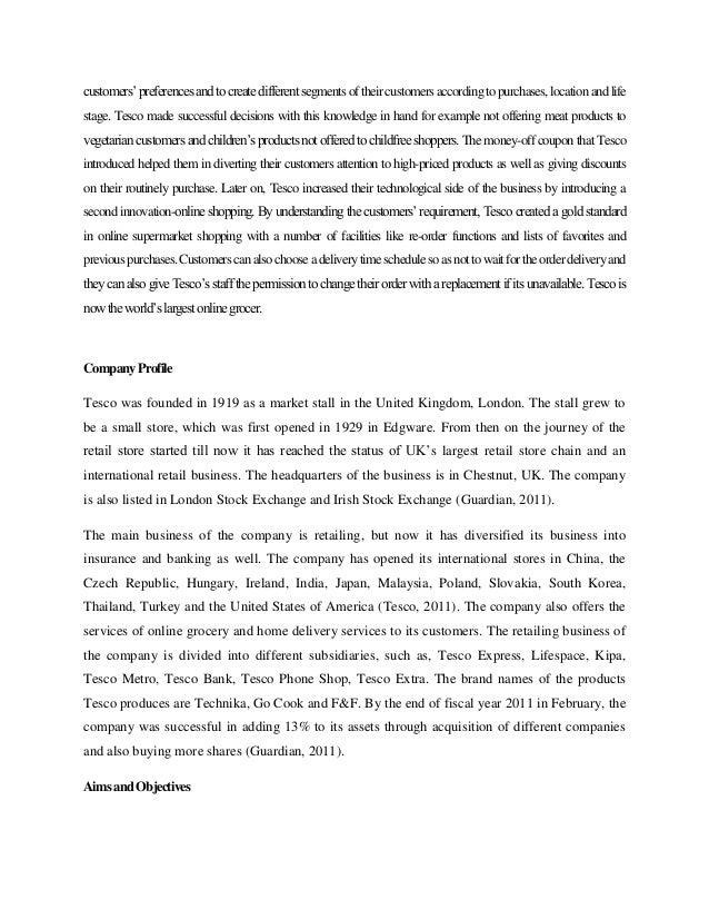 introduction to tesco malaysia