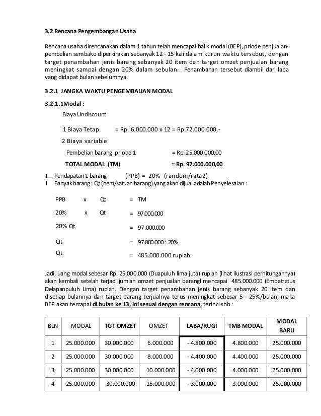 Proposal Wwwi Kedaicom Usaha Sembako