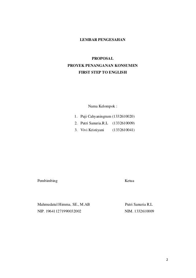 Contoh Proposal Lembar Pengesahan Guru Ilmu Sosial