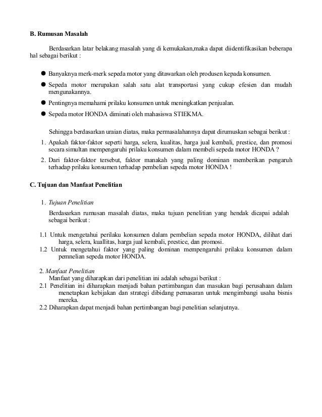Contoh Proposal Penelitian Masalah Ekonomi Uploadnohsa