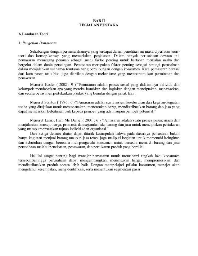 Proposal Penelitian Ekonomi Manajemen Pemasaran