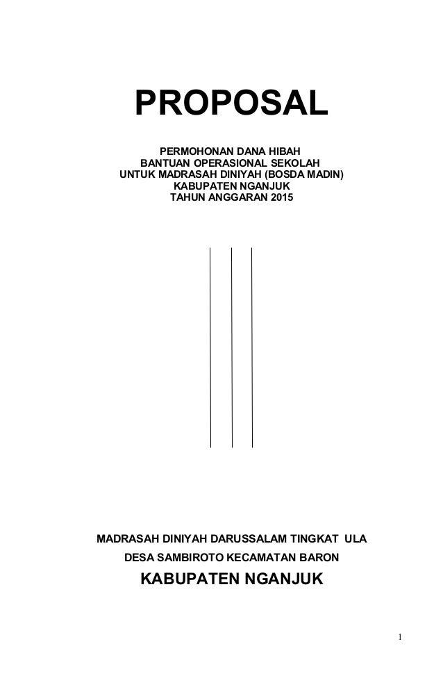 Proposal Pengusulan BOSDA Madin Darussalam 2015