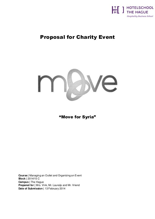Proposal For Charity Event U201cMove For Syriau201d Course | Managing An Outlet And  Organizing ...  Charity Proposal