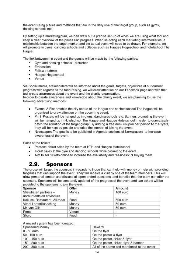 event proposals samples