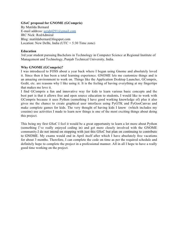 GSoC proposal for GNOME (GCompris)By Matilda BernardE-mail address: serah4291@gmail.comIRC Nick: RedAdmiralBlog: matildabe...