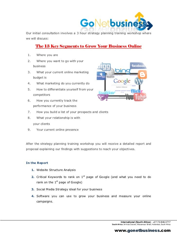 Proposal for Internet Marketing Consulting
