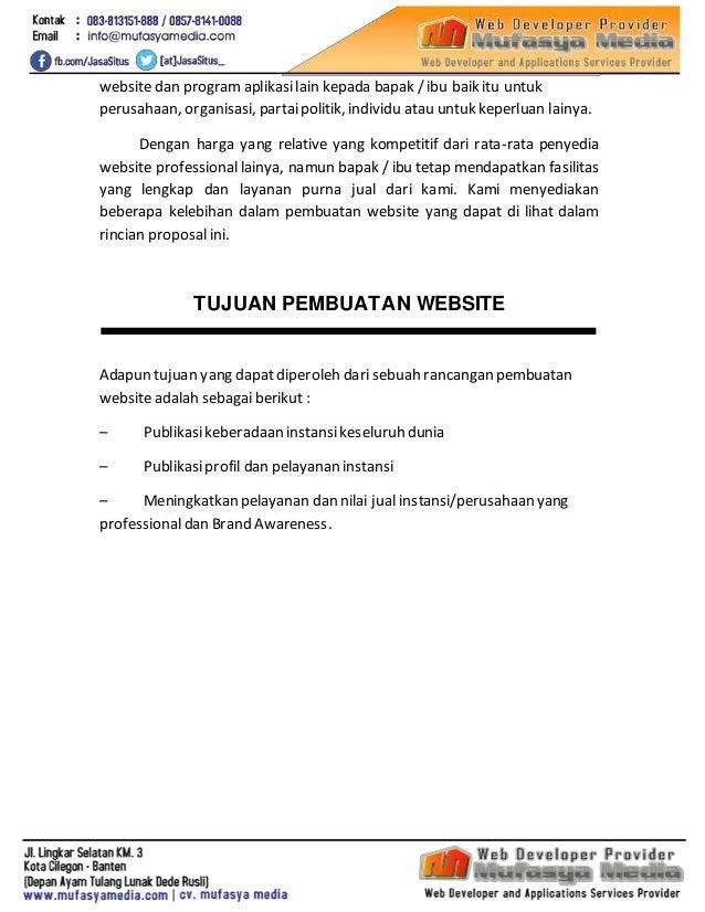Proposal Jasa Pembuatan Website Instansi Pemerintah - mufasyamedia.com Slide 3