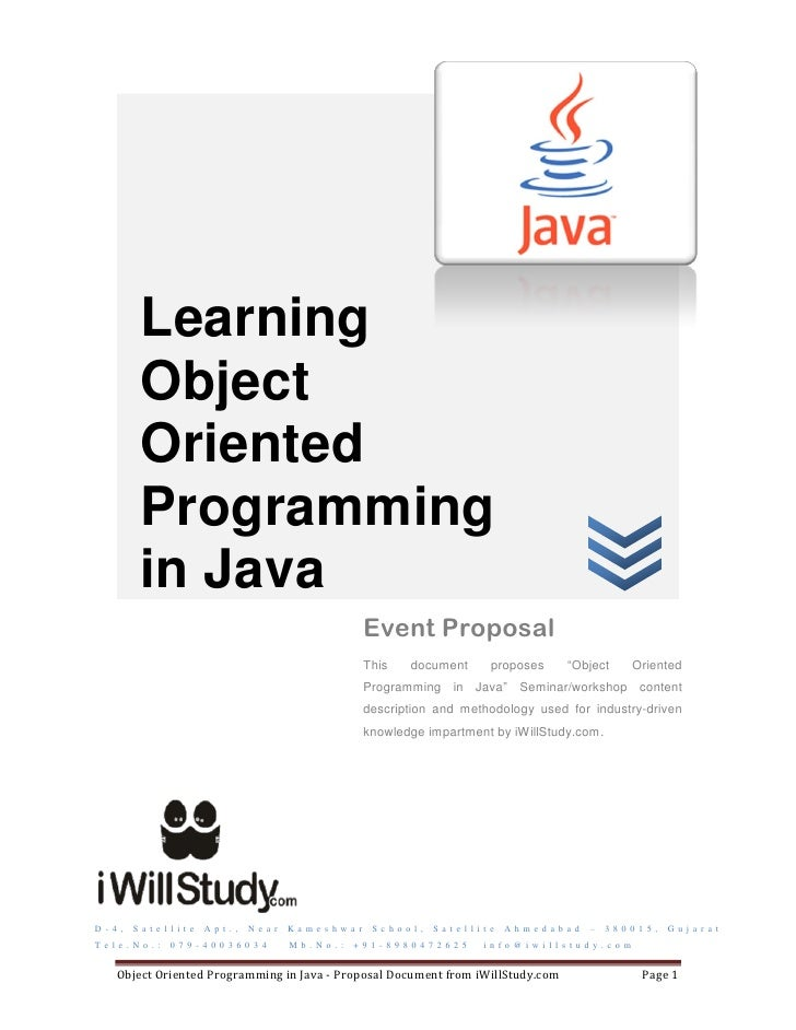 Learning            Object            Oriented            Programming            in Java                                  ...