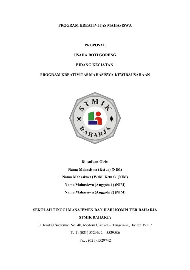 Proposal kewiurausahaan-makanan (1)