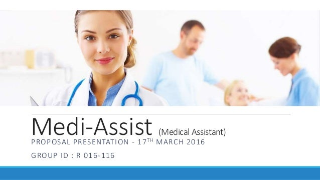 Project Proposal for Medical Assistant