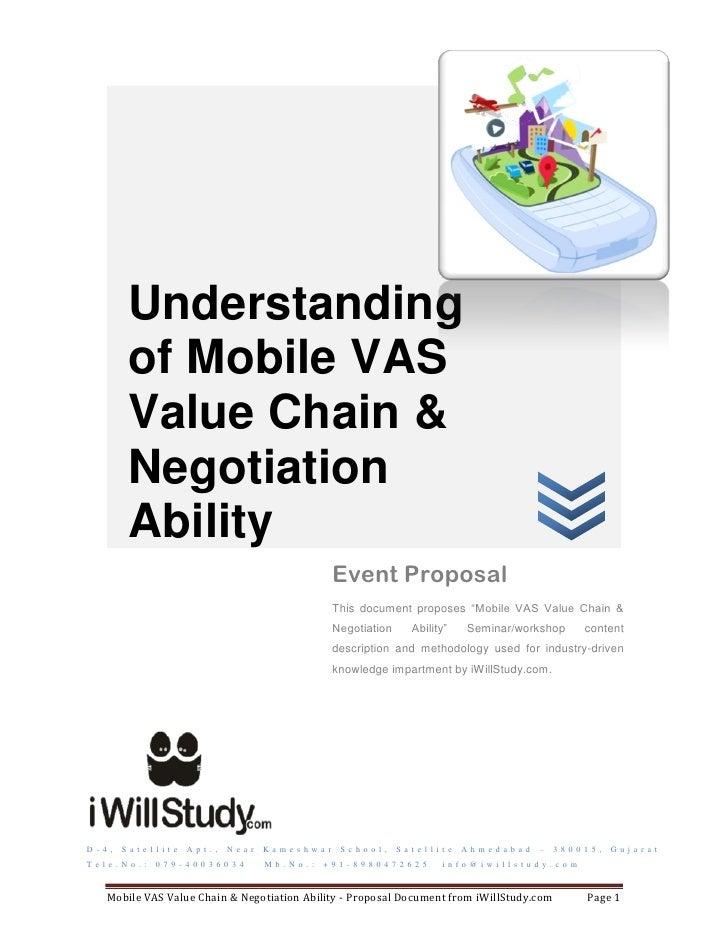 Understanding            of Mobile VAS            Value Chain &            Negotiation            Ability                 ...