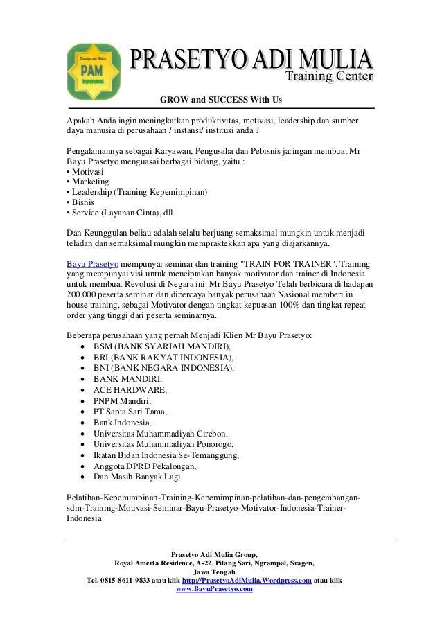 inhouse training proposal