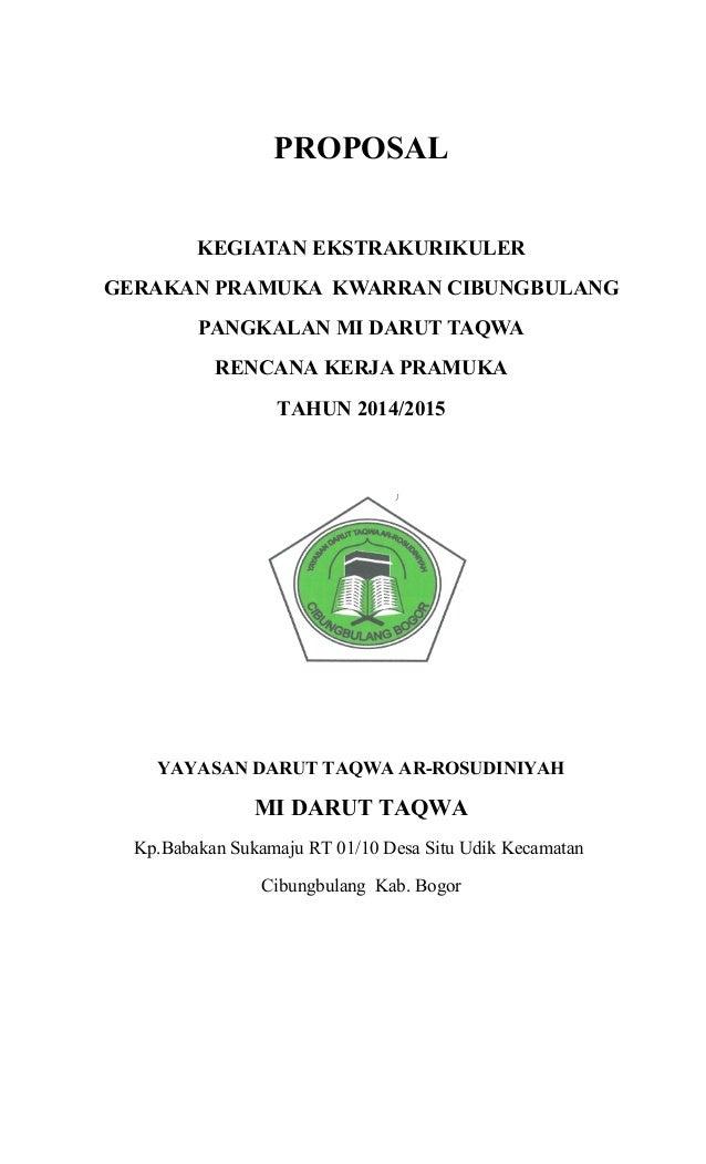 Proposal Program Kerja Pramuka Mi Ath Thahiriyah