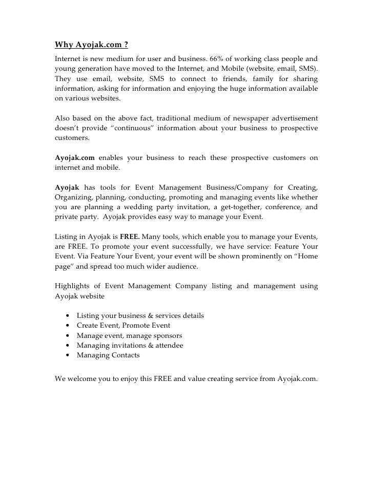 Proposal Report For Venue Owner Event Management Company – Proposal for an Event
