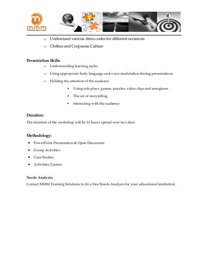 Soft Skills Training Proposal Sample Tikiritschule Pegasus