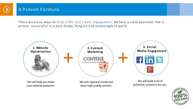A Proven Formula There are many ways to drive traffic and create engagement. We have a solid approach that is proven succe...