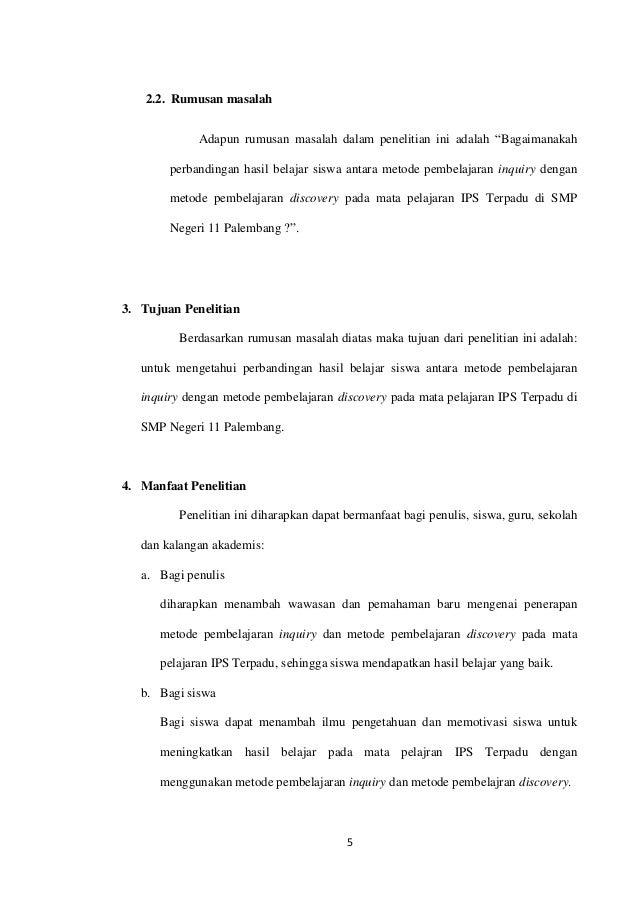 Proposal Skripsi Metode Inquiry Dengan Metode Discovery