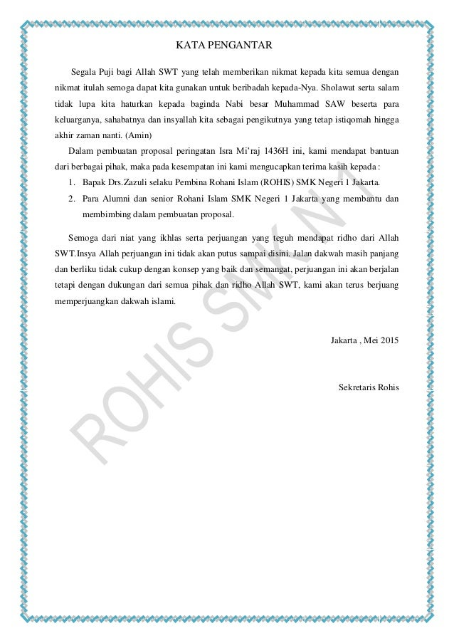 Contoh Proposal Penyelenggaraan Isra Mi Raj