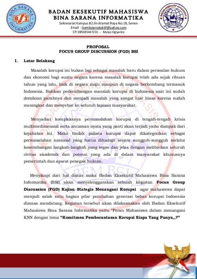 BADAN EKSEKUTIF MAHASISWA BINA SARANA INFORMATIKA Sekretariat Kampus B2 Jln.Kramat Raya No.18, Senen Email : bembsiprodukt...
