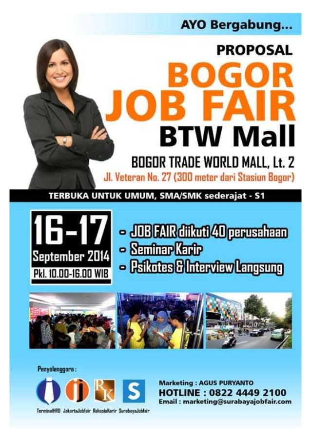 PROPOSAL INDONESIA JOB FAIR 2014