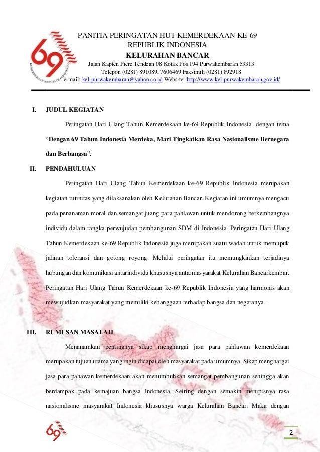 Proposal Peringatan Hut Ri Example