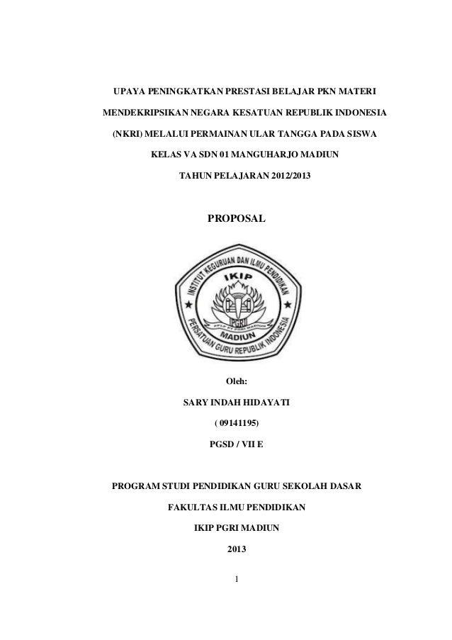 UPAYA PENINGKATKAN PRESTASI BELAJAR PKN MATERIMENDEKRIPSIKAN NEGARA KESATUAN REPUBLIK INDONESIA (NKRI) MELALUI PERMAINAN U...