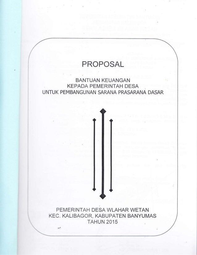 Proposal Bantuan Keuangan Gubernur Kepada Pemerintah Desa Wlahar Weta