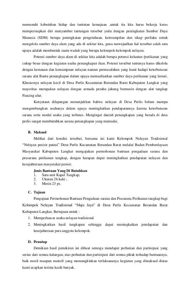Proposal Bantuan Boat