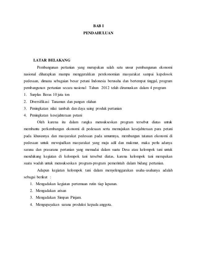 Contoh Proposal Pembangunan Jalan Usaha Tani Pdf Berbagi Contoh Proposal