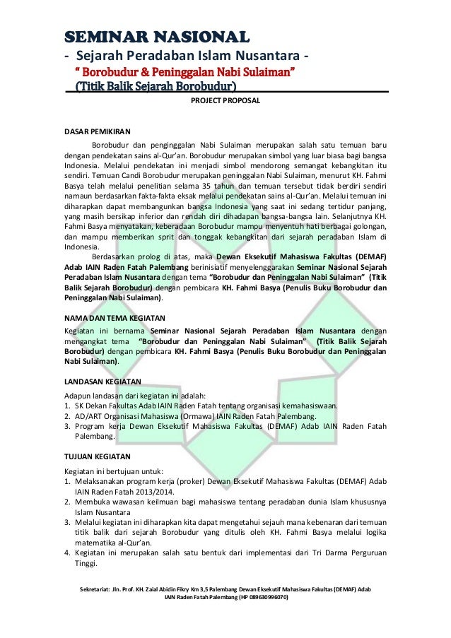 "SEMINAR NASIONAL - Sejarah Peradaban Islam Nusantara "" Borobudur & Peninggalan Nabi Sulaiman"" (Titik Balik Sejarah Borobud..."