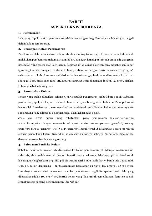 Proposal Wirausaha Pelatihan Budidaya Lele