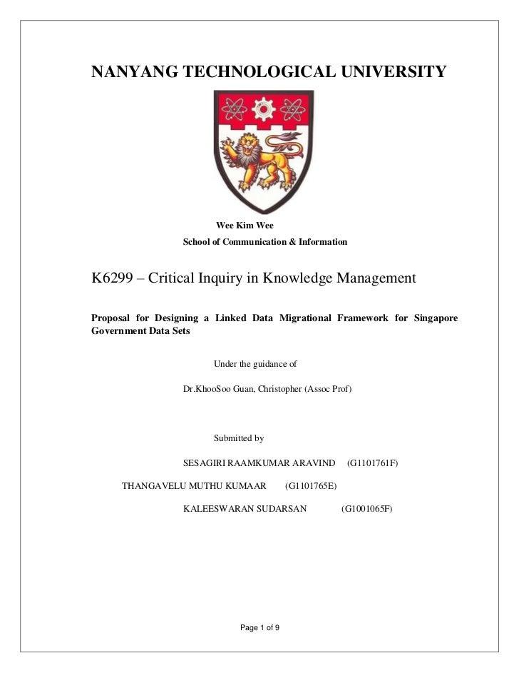 NANYANG TECHNOLOGICAL UNIVERSITY                          Wee Kim Wee                  School of Communication & Informati...