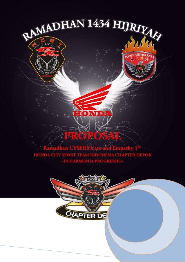 Proposal Hcst Chapter Depok Peduli Ramadhan 1434 H