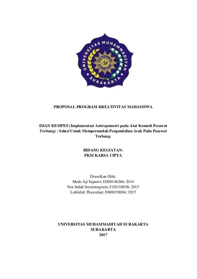 Contoh Proposal Pkm Karsa Cipta Didanai Dikti 2018