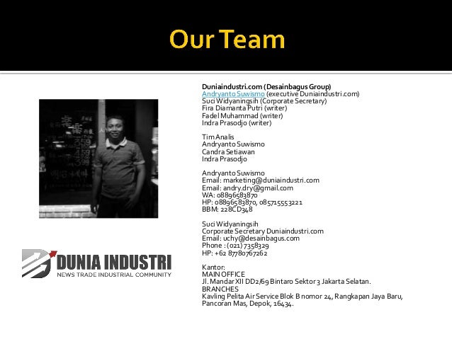 Proposal penyediaan data industri Slide 3