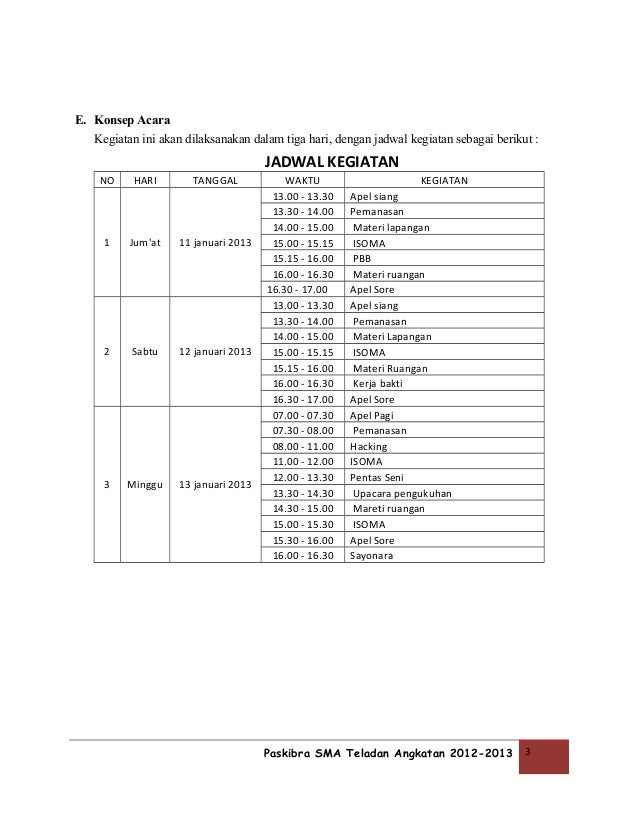 Program Ekstrakurikuler Paskibra