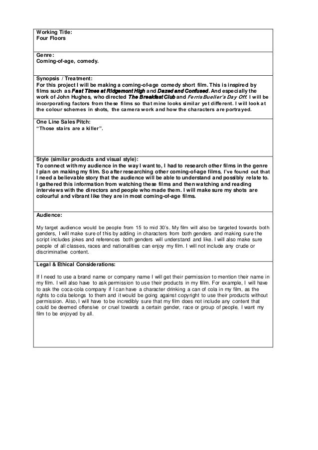 Short Film Proposal Document