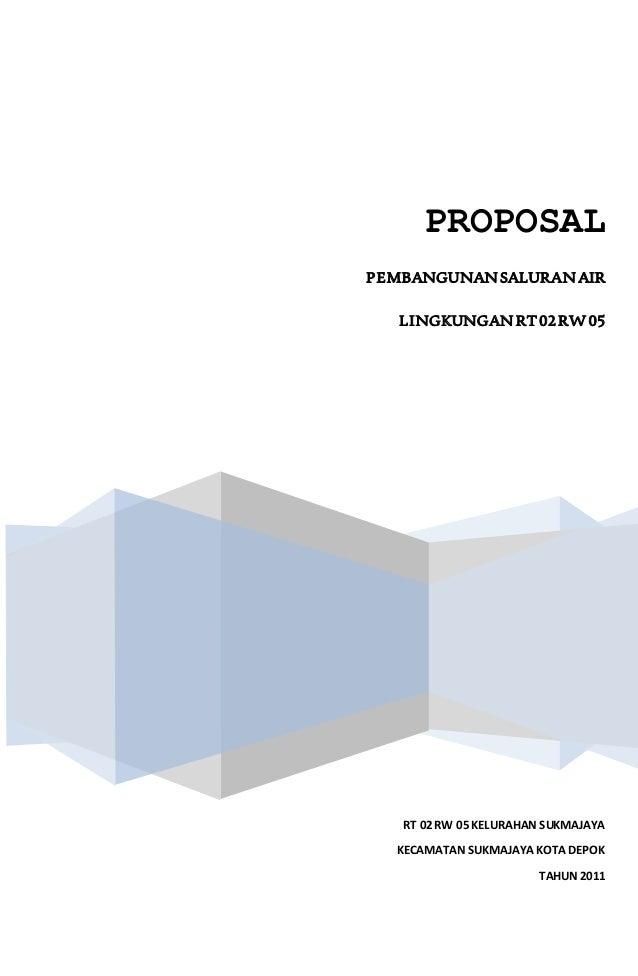 Proposal Drainase