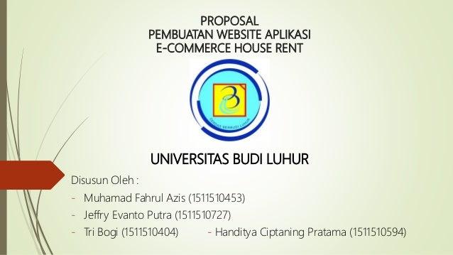 Proposal E Commerce House Rent