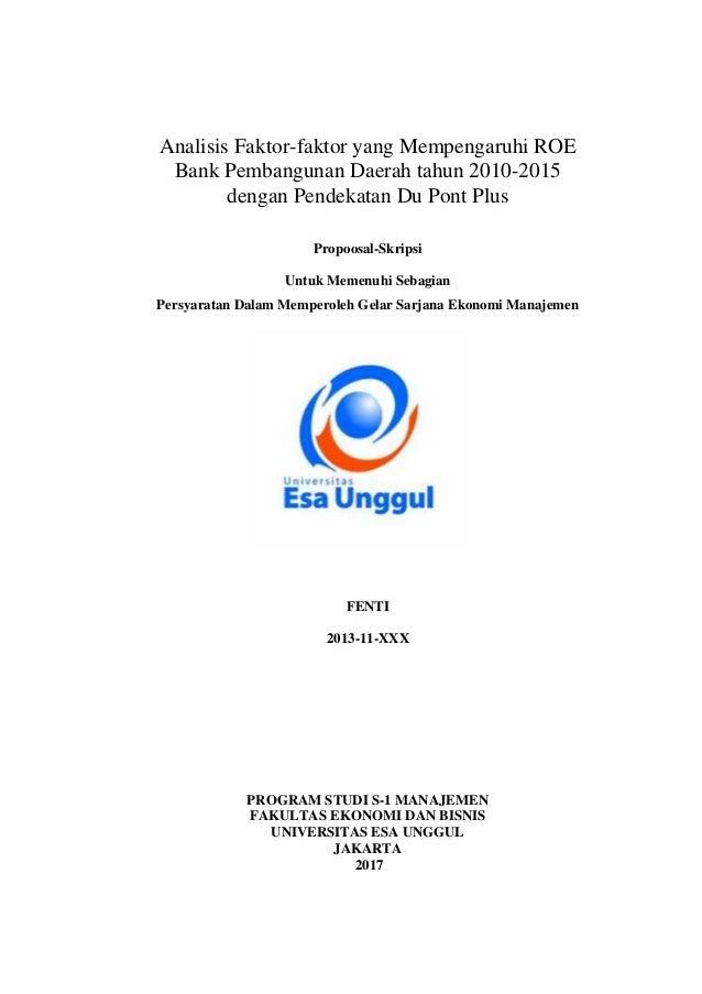 Contoh Proposal Skripsi Manajemen Keuangan Perbankan Kumpulan Berbagai Skripsi