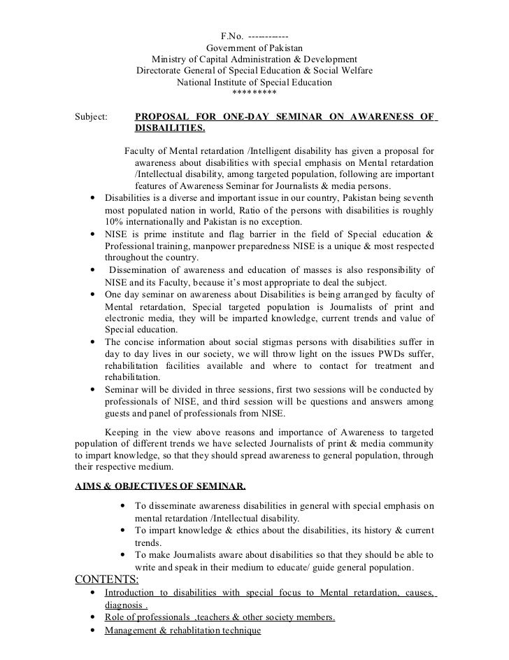 Proposal For 1 Day Seminar Dr Saim1