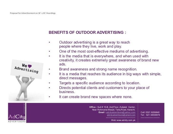 outdoor advertising proposal - Keni.candlecomfortzone.com