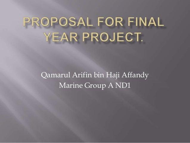 Qamarul Arifin bin Haji Affandy    Marine Group A ND1