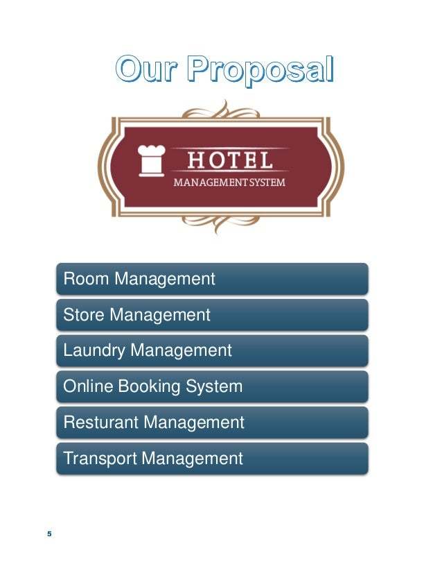 Proposal for hotel management system and web development