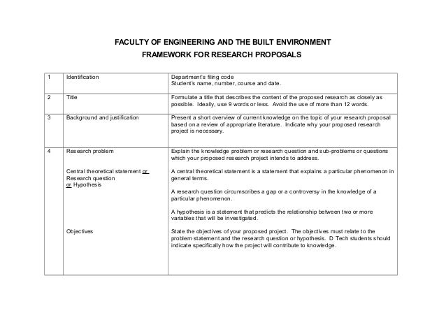 proposal format engineering