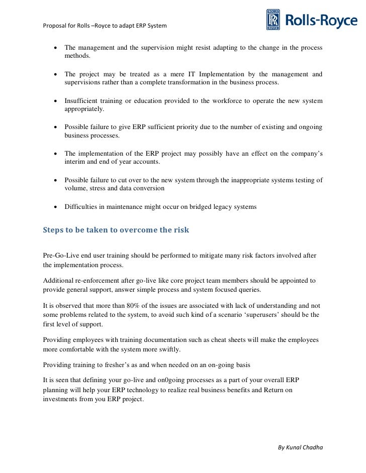 rolls royce implementing erp system and Enterprise information systems project implementation: a case study of erp in  rolls-royce yahaya yusufa,, a gunasekaranb, mark s abthorpec a business.