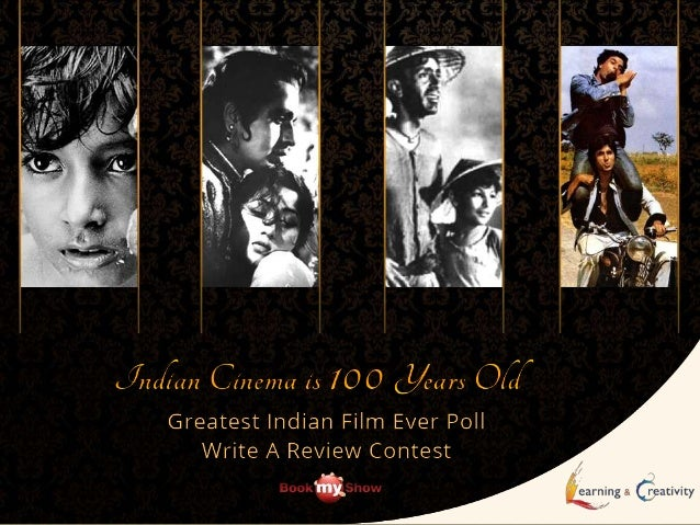 To celebrate the completion of 100 years of Indian cinema Learning & Creativity is holding a Poll and Write A Review Conte...