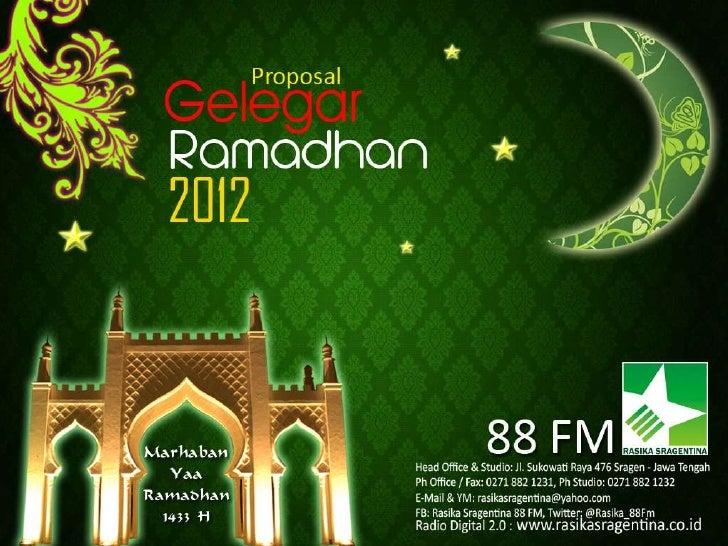 Proposal Gelegar Ramadhan 2012 Rasika Sragentina 88 Fm Passs