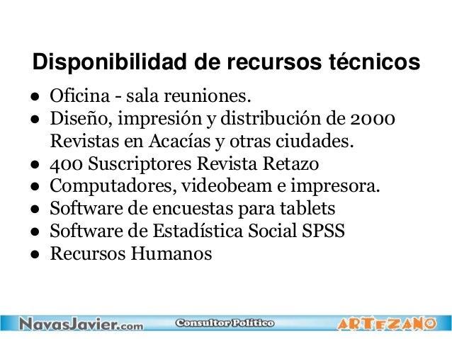 Disponibilidad de recursos técnicos ● Oficina - sala reuniones. ● Diseño, impresión y distribución de 2000 Revistas en Aca...